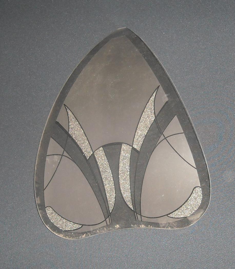 lampenschirm aus glas glasschirm k1083w17 l nge 30 cm. Black Bedroom Furniture Sets. Home Design Ideas